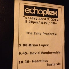 Photo taken at Echoplex by Robin F. on 4/4/2012