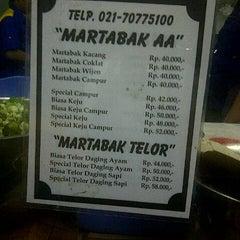 Photo taken at Martabak AA by NuRRe B. on 9/9/2012