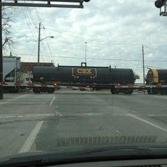 Photo taken at Michigan Street Railroad Crossing by Ben R. on 2/18/2013