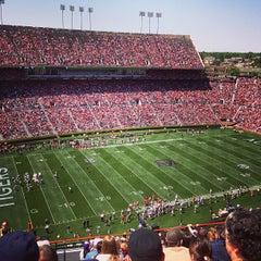 Photo taken at Jordan-Hare Stadium by Tyler B. on 5/7/2013