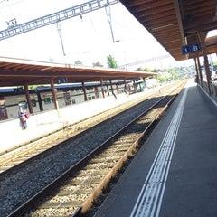 Photo taken at Bahnhof Zürich Tiefenbrunnen by Paul S. on 9/7/2015