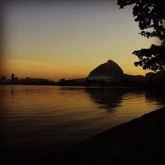 Photo taken at Lagoa Rodrigo de Freitas by Natália M. on 5/20/2013