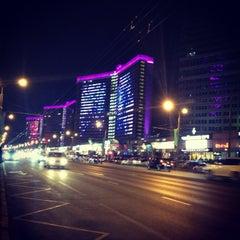 Photo taken at Новый Арбат / New Arbat Street by Valeria Z. on 3/8/2013