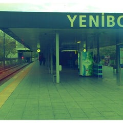 Photo taken at Yenibosna Metro İstasyonu by Hamit I. on 12/2/2012