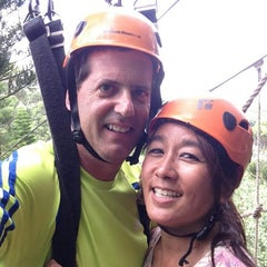 Photo taken at Just Live Zipline Treetop Tour by Bev R. on 8/1/2013