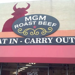 Photo taken at MGM Roast Beef by Alex T. on 12/10/2012