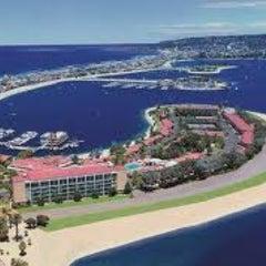 Photo taken at Bahia Resort Hotel - San Diego by PreFABsd.com .. on 2/21/2013