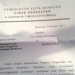 Photo taken at Dinas Kesehatan (DinKes) Kota Bandung by Gumilar R. on 10/25/2013