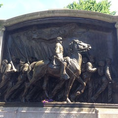 Photo taken at Robert Gould Shaw Memorial by Richard F. on 6/16/2014