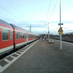 Photo taken at Bahnhof Frankfurt-Niederrad by noriko on 11/25/2012