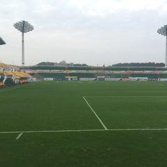 Photo taken at 광양축구전용구장 (Gwangyang Football Stadium) by Gyu Pyoung L. on 8/23/2015