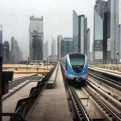 Photo taken at Burj Khalifa / Dubai Mall Metro Station محطة مترو برج خليفة / دبي مول by Alexander S. on 10/29/2012