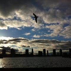 Photo taken at Pier 25 — Hudson River Park by Sarah P. on 2/27/2013