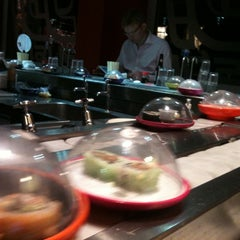 Photo taken at YO! Sushi by Kristin T. on 9/25/2012