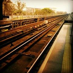 Photo taken at Estação Portuguesa-Tietê (Metrô) by Felipe A. on 10/14/2012