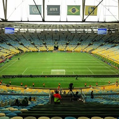 Photo taken at Estádio Jornalista Mário Filho (Maracanã) by Carolina Z. on 6/20/2013