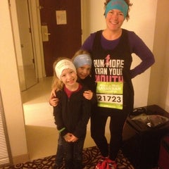 Photo taken at Rock n Roll Savannah Marathon Start by James B. on 11/9/2013