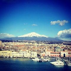 Photo taken at Porto di Catania by Eli on 2/10/2013