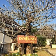 Photo taken at Doi Tung Lodge by Nip C. on 1/20/2016