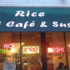 Photo taken at Rice Thai Cafe by Jeanette F. on 11/6/2012