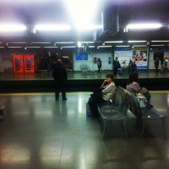 Photo taken at Metro Moncloa by Jorge D. on 9/29/2012