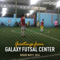 Photo taken at Galaxy Futsal Center by Fahri F. on 5/9/2014