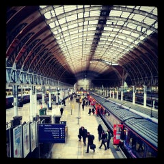 Photo taken at Heathrow Express Train - Paddington [PAD] to Heathrow [HXX] by Ting-Fung C. on 2/28/2013