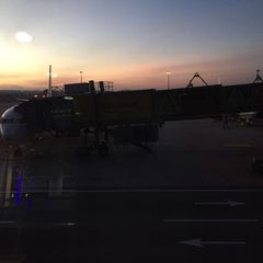 Photo taken at Gate A8 by Athirah Z. on 1/28/2016