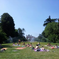 Photo taken at Parco Sempione by Cecília O. on 6/30/2013