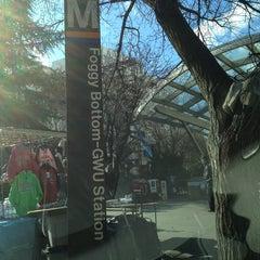 Photo taken at Foggy Bottom-GWU Metro Station by Anthony C. on 1/29/2013