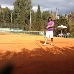Photo taken at Filothei Tennis Club by Vasilis Fernando on 3/16/2013