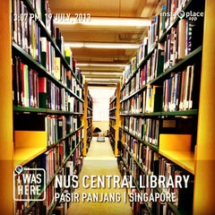 Photo taken at NUS Central Library by Chenee L. on 7/19/2013