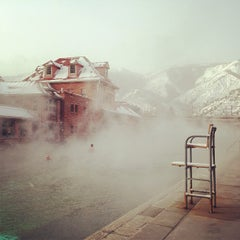Photo taken at Glenwood Hot Springs by Colleen H. on 1/16/2013