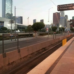 Photo taken at Pico (Chick Hearn) Metro Station by Mikey R. on 10/1/2012
