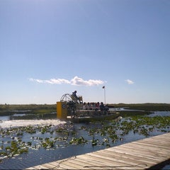 Photo taken at Buffalo Tiger's Airboat Rides by Alesha . on 10/27/2012