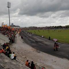 Photo taken at Stadium Sungai Besar by Khairul S. on 11/15/2014