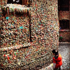 Photo taken at Gum Wall by Tyler F. on 11/5/2012