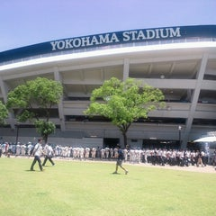 Photo taken at 横浜スタジアム (YOKOHAMA STADIUM) by Norichika G. on 7/7/2013