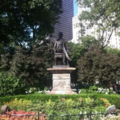 Photo taken at Madison Square Park by Chris R. on 6/29/2013