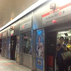 Photo taken at Orchard MRT Station (NS22) by Cakrabumi W. on 11/27/2012