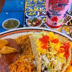 Photo taken at Rosa's Cafe Tortilla Factory by Kelley C. on 7/16/2013