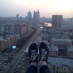 Photo taken at Новый Арбат / New Arbat Street by yanni s. on 4/18/2013