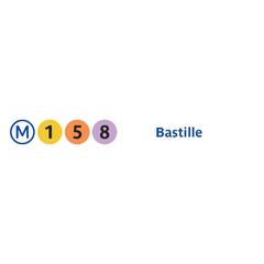Photo taken at Métro Bastille [1,5,8] by RATP on 7/19/2013