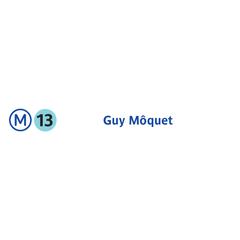 Photo taken at Métro Guy Moquet [13] by RATP on 7/21/2013