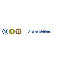 Photo taken at Métro Arts et Métiers [3,11] by RATP on 7/19/2013