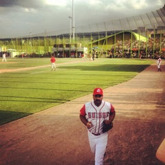 Photo taken at Heerenschuerli Baseball Stadium by Tino E. on 7/25/2013