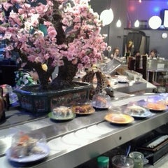Photo taken at Sushi Sakura by Gloria T. on 2/24/2013