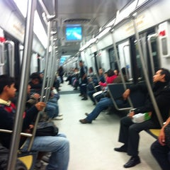 Photo taken at Metro Mixcoac (Líneas 7 y 12) by Andres B. on 10/31/2012