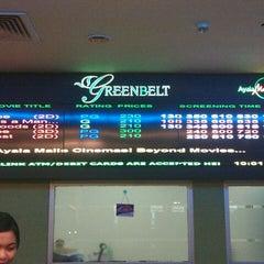 Photo taken at Greenbelt 3 Cinemas by Frances P. on 4/4/2013