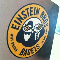 Photo taken at Einstein Bros Bagels by Bianca S. on 1/3/2013